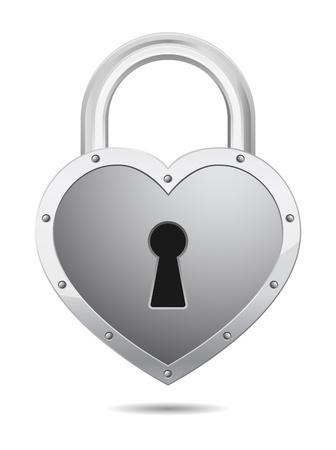 icono candado: candado en forma de coraz�n icono Vectores