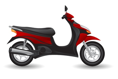moped: scooter motorcycle icon Illustration
