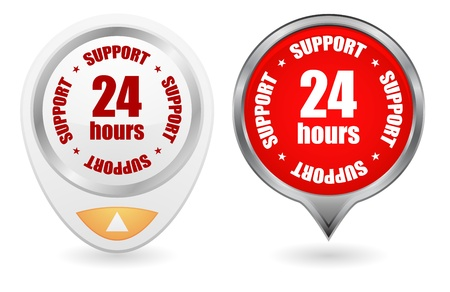 24 hours: 24 hours vector web icon