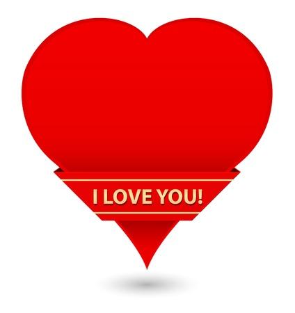 congratulating: greeting card heart shape Illustration