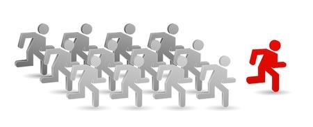 teamleider: 3d teamleider pictogram Stock Illustratie