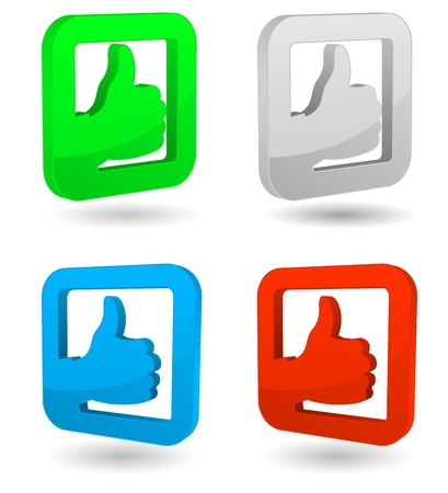 thumbs up icon: thumbs up 3d icono Vectores