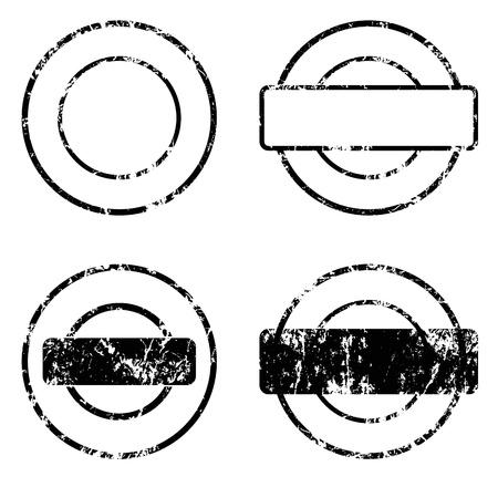 stamp seal balnk  Illustration