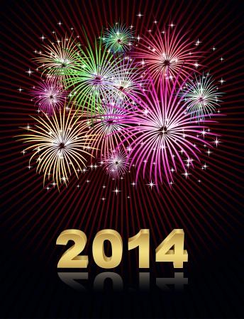 nieuwe jaar 2014 Stock Illustratie