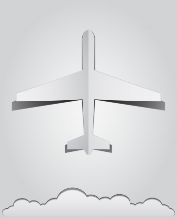 airplane paper  Vector