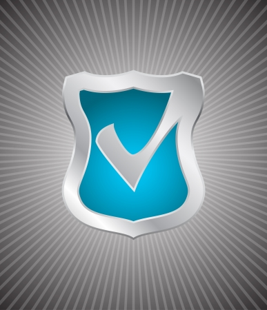 shield check mark icon Vector