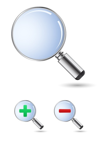 lupe: magnifying glass  Illustration