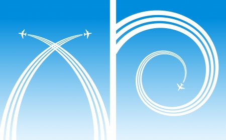 plane flying backgrounds Illustration