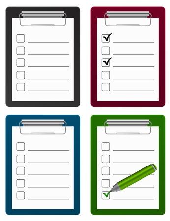 checklist: checklist clipboard icon
