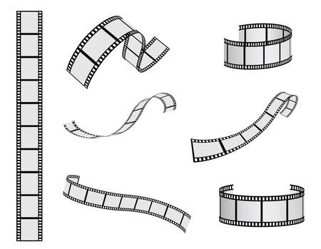 rollo pelicula: película de conjunto de vectores carrete Vectores