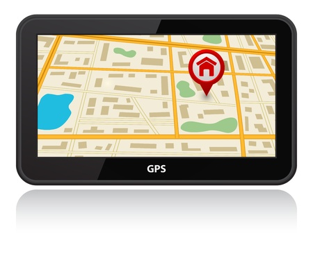 gps device with map