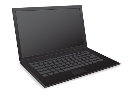 laptop netbook 3d vector icon