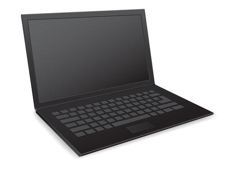 netbook: laptop netbook 3d vector icon