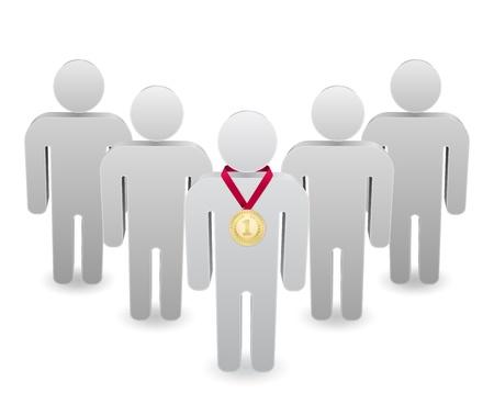 team leader: teamwotk leader with medal