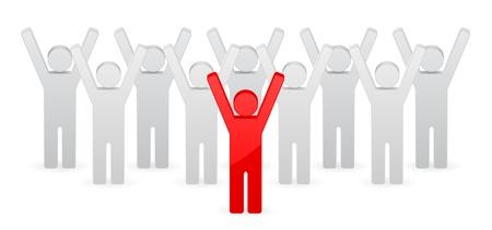 great success: leader concept Illustration
