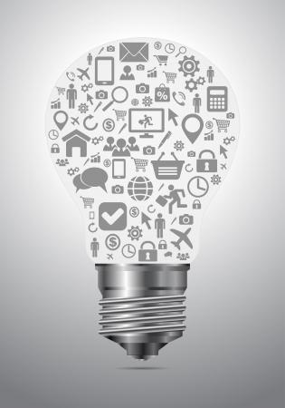 conectar: media luz concepto burbuja sociales