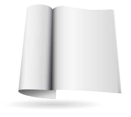magazine blank icon template