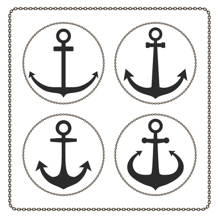 ancre marine: ancrer icône