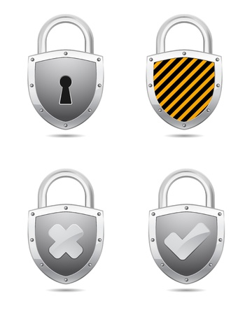 padlock icon with symbol Vector