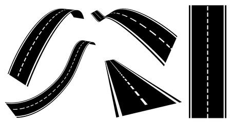 road: road set Illustration