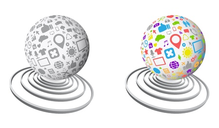 social media abstract sphere concept