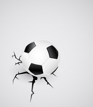 soccerball: soccer ball on cracked surface