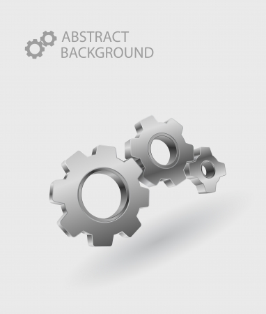 3d gear abstract background