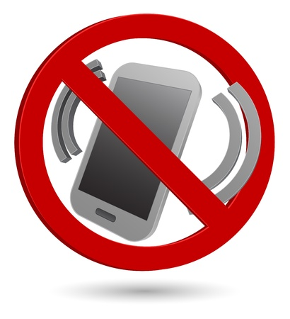 no phone 3d sign Illustration