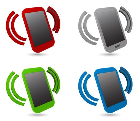 smartphone alarm 3d icon Illustration