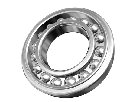 chromium plated: jointed ball bearing isolated on white background