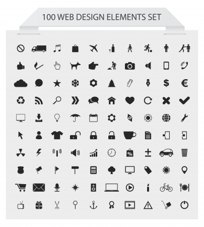 100 web icons set