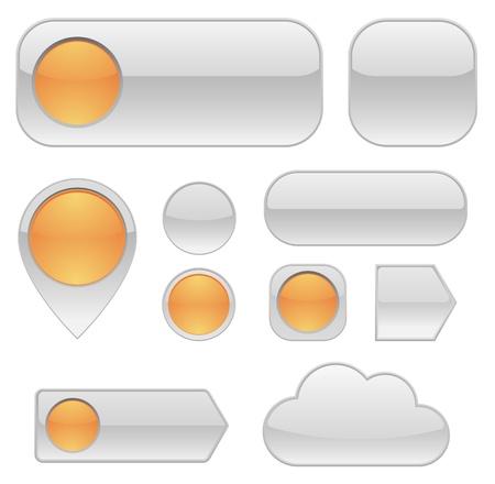 buttons web: web buttons set