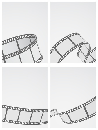 film reel background set Illustration