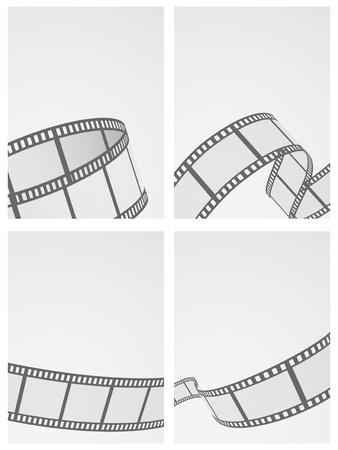 film reel background set Illustration