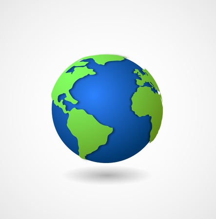 wereldbol 3d pictogram Stock Illustratie