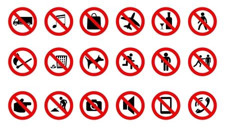 stop teken pictogram set