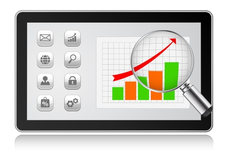 computer graph: tablet pc computer graph