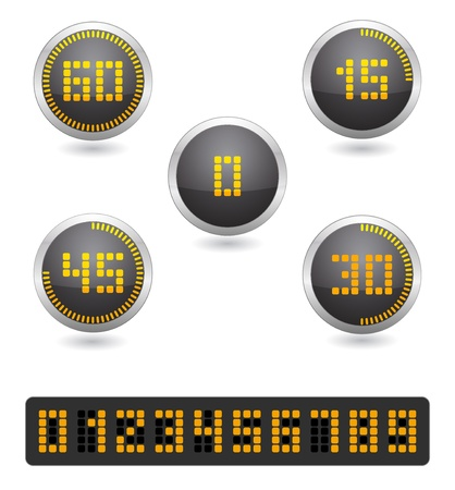 countdown timer:  stopwatch digital timer icon Illustration