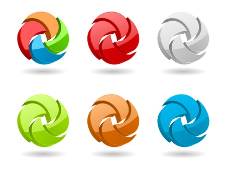abstract aperture: abstract business symbol 3d