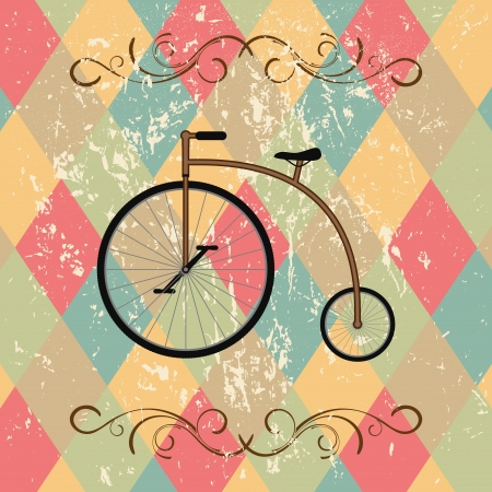 retro bicycle abstract background Vector