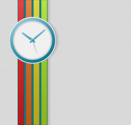 clock business background - retro design Illustration