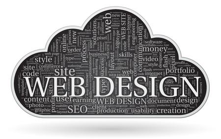 tagcloud: web design tagcloud concept