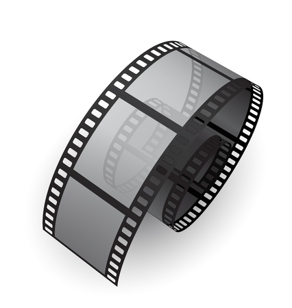 film reel 3d Vector