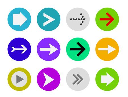 freccia icona pulsante set