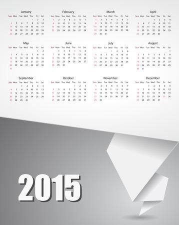 papier banner: Kalender 2015 Papier Banner-Design