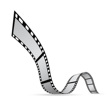 film strip reel background design Illustration