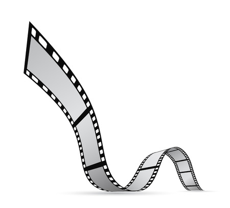 film strip reel background design Stock Illustratie