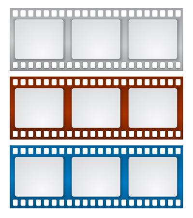film tape: film strip frame design background