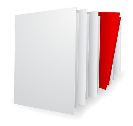 folder stack leader teamwork concept