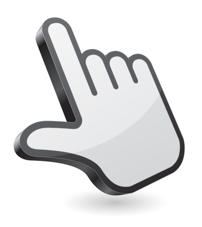 mouse cursor: hand pointer icon 3d design Illustration